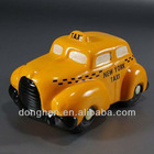 taxi car shaped ceramic money box for gift