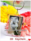 Lovely 3D key chain 3D keyring with different designs for gifts