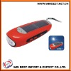 Solar torch with FM radio