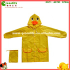 polyester children rain clothing