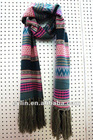 Fashion winter striped knitted wool scarf