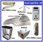 1000 WATT HPS+MH ballast HYDROPONICS Sun leaves Shade Grow Room System/Tent Lamps Timer Reflector hanger
