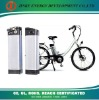 electric bicycle battery with silver fish case