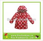 PUR001 Fashion Kids PU Rainwear In Polka Dot Pattern