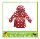PUR001 Fashion Kids PU Rainwear In Polka Dot Pattern
