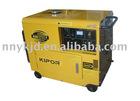Air-cooled diesel generator set with wheels