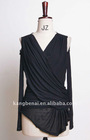 laies' fashion black blouses