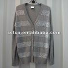Ladies' Paillette Beaded Wool Fashion Cardigan Women's Long Sweater