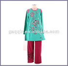 2012 floweer cyan casual lady winter clothes