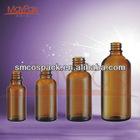 amber and flint boston round glass bottle