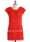 women clothing short sleeves statement dress for party classic fluttering fun dress wholesale