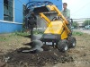 CE Certificated Skid steer loader-Auger