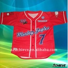 Digitally sublimated baseball jersey