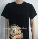 Black T-shirts with heat-transfer Printing