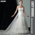 elegant tulle lace beaded bridal wedding gown HS1991