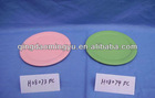 colored wooden round tray