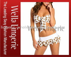 Polka Dot Gold White Swim Bathing Suit