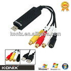 USB 2.0 Easycap Video Audio VHS To DVD Converter Capture Card EasyCap Adapterfor promotion