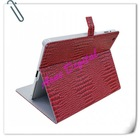 2012 cool design Durable Crocodile PU Plastic stand cover case for ipad2 ipad3