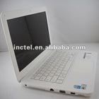 13 14 inch laptop notebooks with Intel D2500 N2800 dual core white black color optional DVD CD Burner