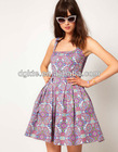 Dolly Skater Dress In Paisley,fashion dress