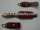 Leather USB keyring