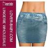Star Imitation Short Jeans Dress For Girls