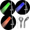 3 color change with different temperature LED shower head