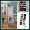 Wooden Mirrored Jewelry cabinet/stand mirrored jewelry cabinet
