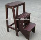 (W-C-1222) 3 step wood ladder step