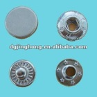 metal shiny silver garment snap(15mm)