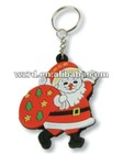 Promotional gifts Santa Claus Christmas rubber key ring