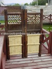 Bamboo and wood craft door