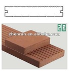 Natural color wood plastic composite solid deck board with groove