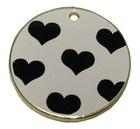Metal circle zinc alloy tag