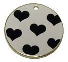 Metal circle zinc alloy tag