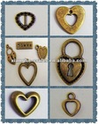 Fashion metal heart love charms in gift & craft