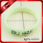 glow in dark silicone bracelet with customized logo best gifts