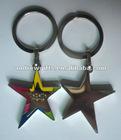 star shape keychain (Key cain, key ring, key tag)