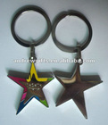 star shape keychain (Key cain, key ring, key tag)