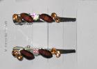 Brown gem V shape clip