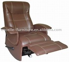 Rocking recliner chair w/handle