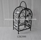 2012 latest home decorative metal wine rack