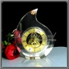 A Grade K9 Crystal Glass Table Clock Gift For Valentine's Day