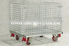 WIRE MESH CONTAINER WITH CASTOR