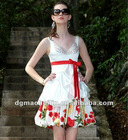 2012 new no sleeve V neck cotton spandex party dress