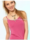 Ladies Cotton pink Tank Top