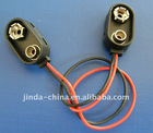 9V battery clip with cable