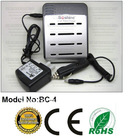 Lithium Ion 18650 1-4 PCS RCR123 Battery Cell Rapid Charger + US AU or EU Adapter Plug