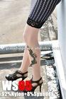 azure dragon long nylon tattoo socks for women